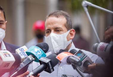 Luis Fernando Camacho en la Fexpocruz/Foto: Gobernación