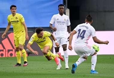 El gol de Yeremi a Real Madrid. Foto: AFP
