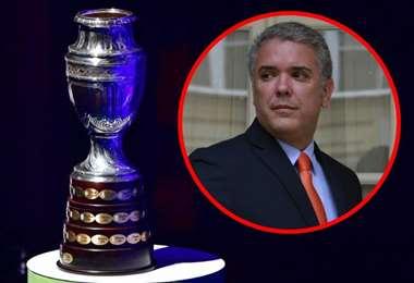 Iván Duque aún quiere que Colombia sea sede de la Copa América. Foto: internet