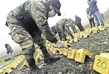 Decomiso de droga en La Paz/Foto: APG
