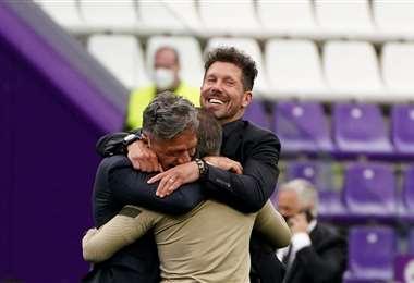 Diego Simeone, entrenador argentino del Atlético Madrid. Foto: AFP