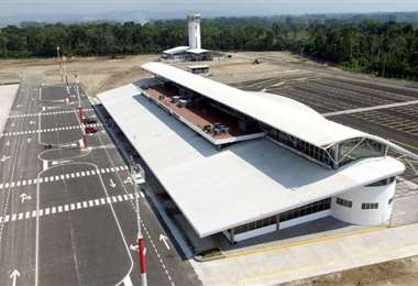 El aeropuerto de Chimoré.