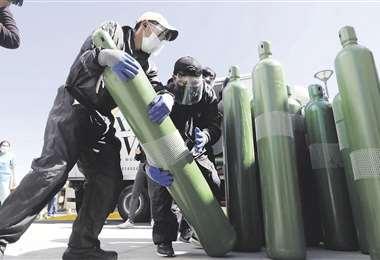 En varias regiones del país escasea el oxígeno medicinal/Foto: APG