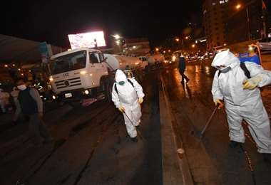 La desinfección en La Paz I AMN.