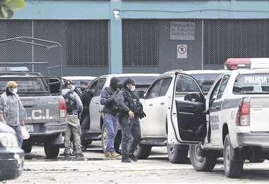 Policía cruceña en acción