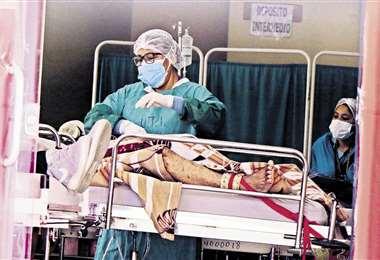 Enfermos atendidos en el Hospital Viedma/Foto: APG