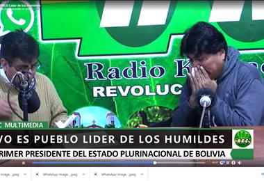Evo Morales en radio Kawsachun Coca