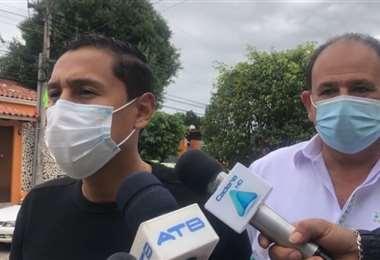 Pacheco atendió a los medios el mediodía de este domingo