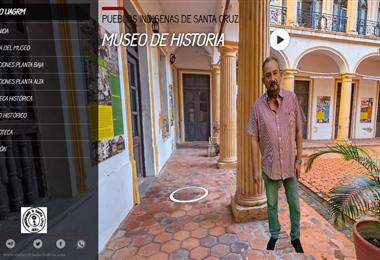 La visita en 360 grados del Museo de Historia de la Uagrm