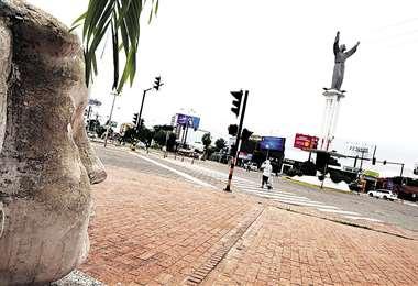 Cuarentena rígida en la capital cruceña/Foto Fuad Landívar