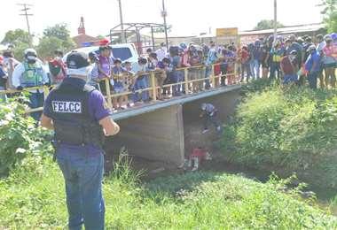 El cadáver fue levantado por efectivos de la Felcc el día miércoles en Montero