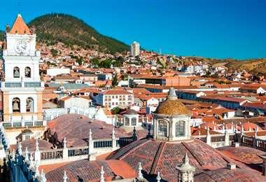 Vista panorámica del centro de la ciudad de Sucre