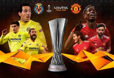 Villarreal y Manchester United disputarán este miércoles el título de la Europa League.