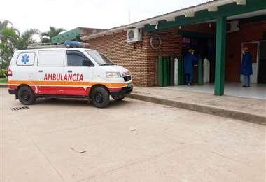 Foto Soledad Prado: la escases de oxígeno en Yapacaní se da desde el sábado.