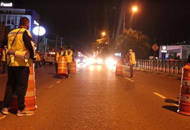 Los controles móviles se instalaron en seis avenidas principales de la ciudad