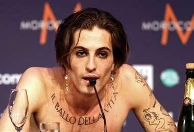 """""""No consumo drogas"""", dijo Damiano David en conferencia de prensa tras su victoria"""