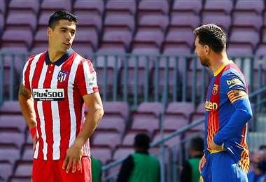 Suárez y Messi juegan en diferentes equipos, pero son muy amigos. Foto: Internet