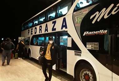 El Tigre llegó a Buenos Aires la noche del lunes. Foto: Club The Strongest
