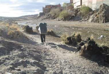 Un paso ilegal en Villazón. Foto: Iván Paredes