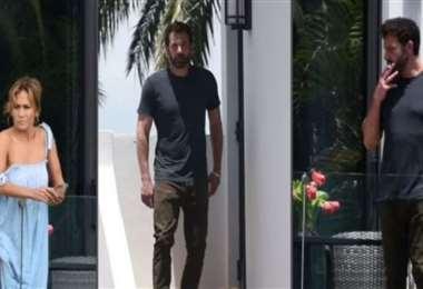 La pareja de artistas en la casa de Miami donde pasan unos días