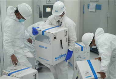 El mecanismo Covax entrega 100.626 vacunas de Pfizer. Foto ABI