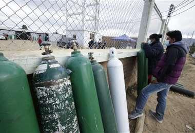 El oxígeno en Cochabamba se agotó. Foto: APG Noticias