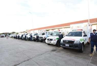 Entrega de ambulancias refaccionados. Foto: GAMSC