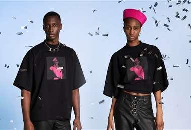 Modelos con prendas de la marca Jean Paul Gaultier