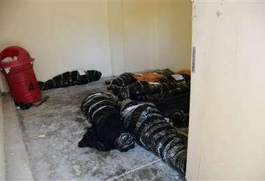 Los cadáveres en condiciones insalubres. Foto: Los Tiempos