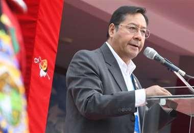 Luis Arce se refirió al caso Murillo en el aniversario de los Colorados (Foto:Oficial)