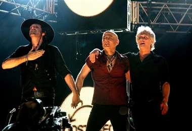 """Soda Stereo en uno de sus conciertos de la gira """"Me verás volver"""""""