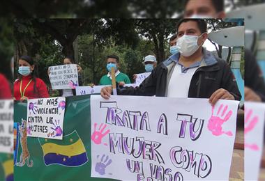 Camireños exigen mano dura contra de violadores de menores. Foto. Teófilo Baldiviezo
