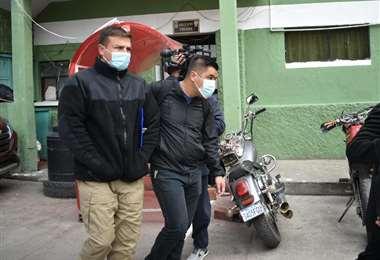 Diego Bellot es trasladado a declarar ante la Fiscalía. Foto: APG Noticias