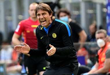Antonio Conte fue DT del flamante campeón del Calcio. Foto: AFP