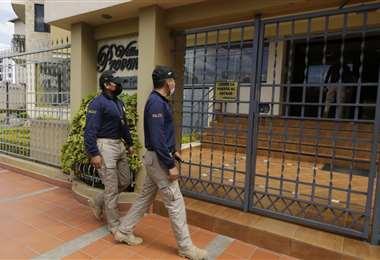 Los operativos de allanamiento en el caso Murillo. Foto: APG Noticias