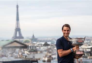 Rafael Nadal fue campeón el año pasado del Roland Garros. Foto: AFP