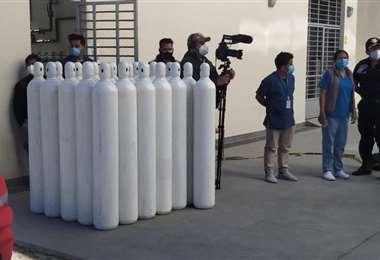 Entregan 2 toneladas de oxígeno al Hospital Norte de Cochabamba Foto: Mins. de Salud