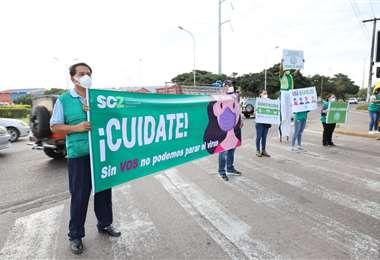 Gobernación lanza campaña para frenar los contagios. Fotos: GADSC