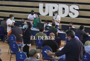 Sedes establece un nuevo punto de vacunación en la UPDS. Foto: JC. Torrejón