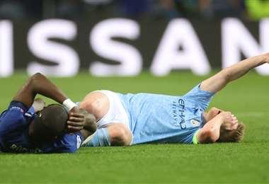 La salida de volante De Bruyne afectó en el rendimiento del City. Foto: AFP
