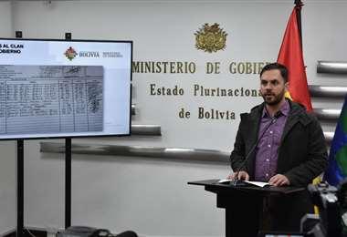 El ministro Eduardo Del Castillo. Foto: Ministerio de Gobierno