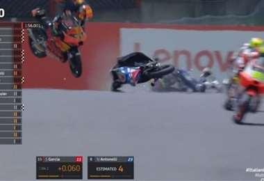 Captura de pantalla del momento del accidente de Dupasquier