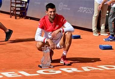 Novak Djokovic, de 34 años, no para de ganar títulos. Foto: AFP