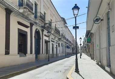 Así estuvo la calle Sucre, en Tarija, el pasado domingo 23 de este mes