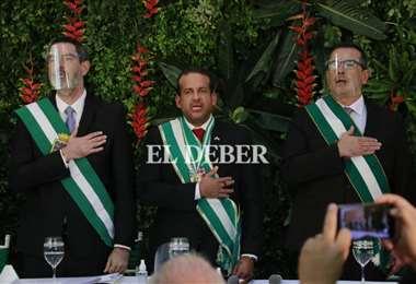 Camacho presenta su gabinete. Foto: JC Torrejón