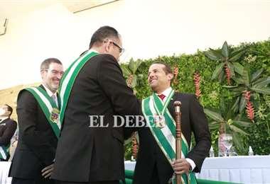 Camacho ya juró como gobernador de Santa Cruz. Foto Juan Carlos Torrejón