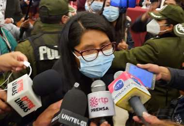 La primera declaración de la flamante Alcaldesa, Eva Copa (Foto: Prensa Eva Copa)