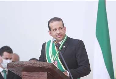 Camacho hizo su intervención tras ser posesionado. Foto: Jorge Gutiérrez