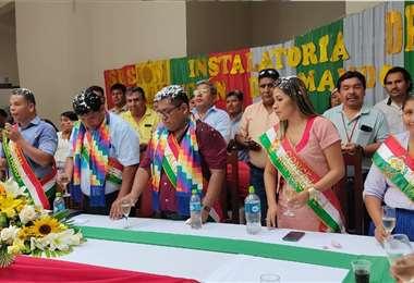 En Yapacaní también fueron posesionados los concejales