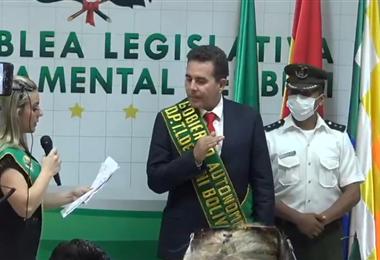 Posesión del nuevo Gobernador del Beni
